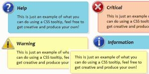5 вариантов всплывающих окон с подсказками на CSS3
