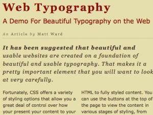 CSS3 типографика