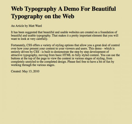 типографика CSS3 шаг 1