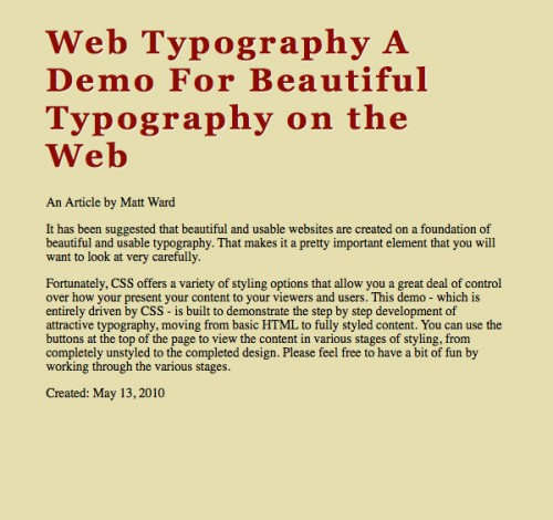 типографика CSS3 шаг 2