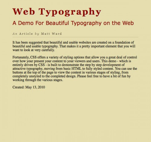 типографика CSS3 шаг 5