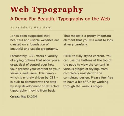 типографика CSS3 шаг 6