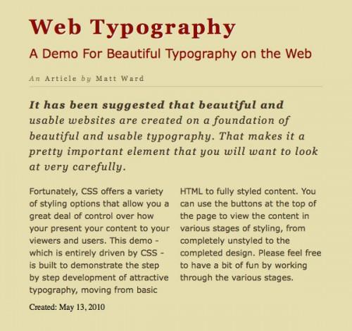 типографика CSS3 шаг 7