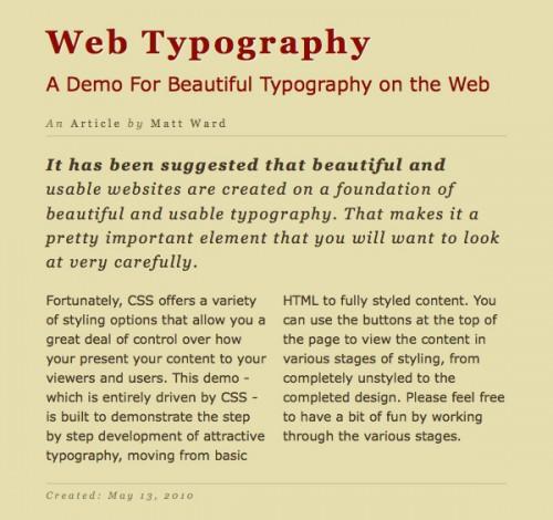 типографика CSS3 шаг 8