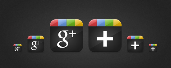 иконки Google+