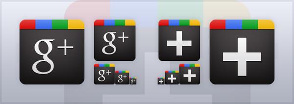 векторные иконки google+