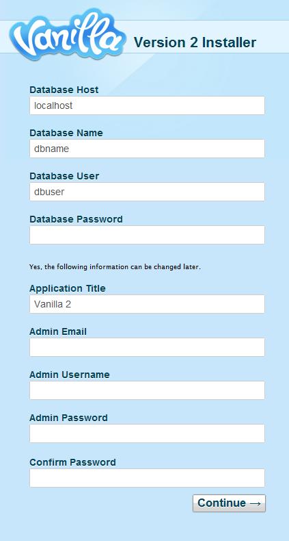 vanilla forums