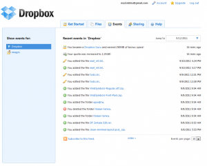 DropBox events