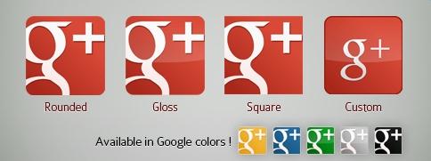 красная иконка Google+