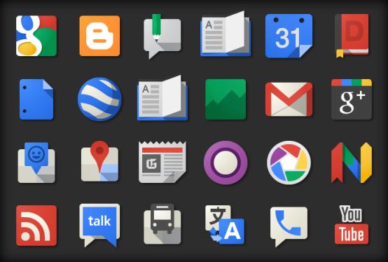 Новые иконки Google