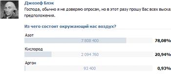 ВКонтакте опросы