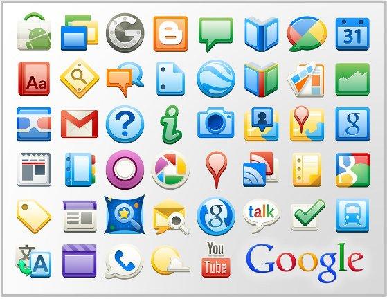 иконки google сервисов